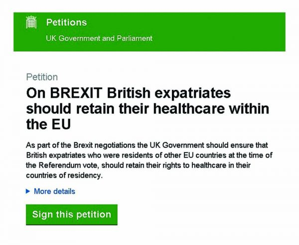 On BREXIT British expatriates should retain their healthcare within the EU