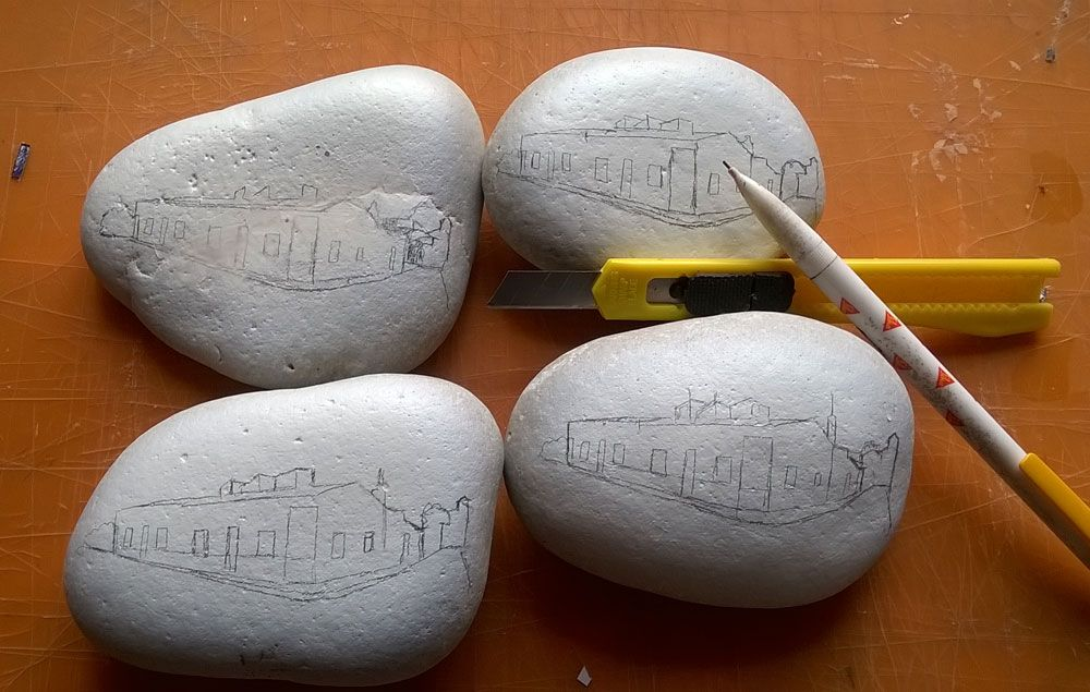 pintar piedras para hondn