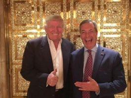 Farage @Nigel_Farage and Trump @realDonaldTrump (Photo: https://twitter.com/nigel_farage)
