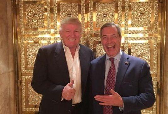 Farage @Nigel_Farage and Trump @realDonaldTrump (Photo: https://twitter.com/nigel_farage)