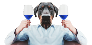 Spanish company produces electric-blue wine