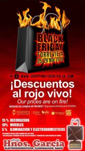 Black Friday has arrived at Hnos Muebles Garcia in Torrevieja