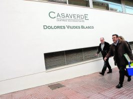 Public Health Officials arriving at Casaverde at the weekend