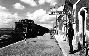 Torrevieja had a railway line that was introduced to the city in 1884. It finally disappeared, along with its station, in the late 1970's