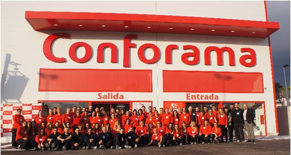 New conforama superstore in finestrat alicante the for Conforama valencia