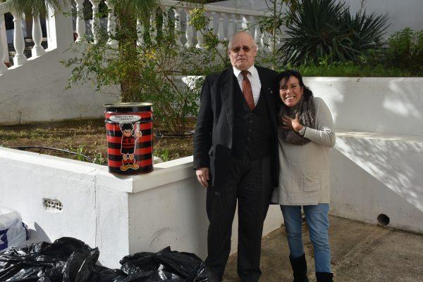 WBro Keith with Ms Silvia Barnish.