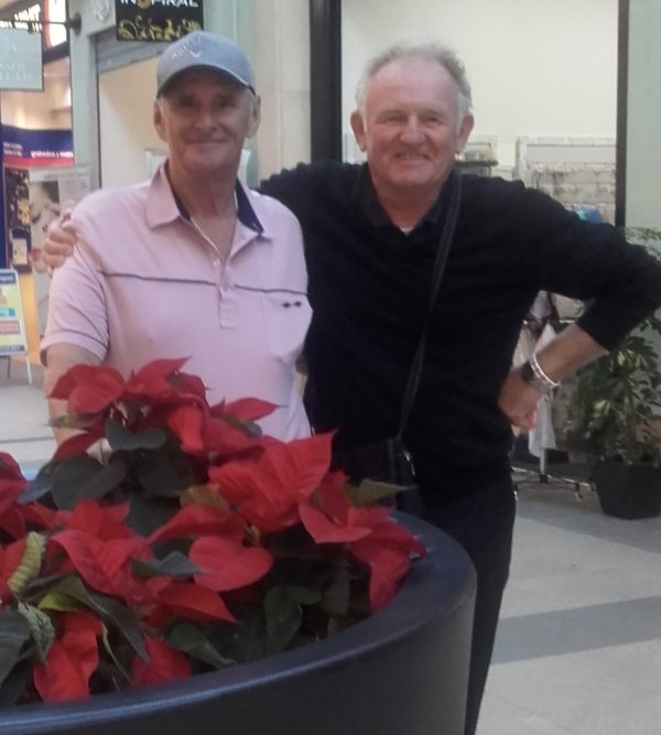 Mike Gossage and Mck Reeves who raised 10k with their Poppy Golf Days