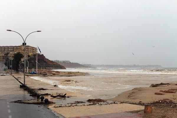 Campoamor beach has been hit hard