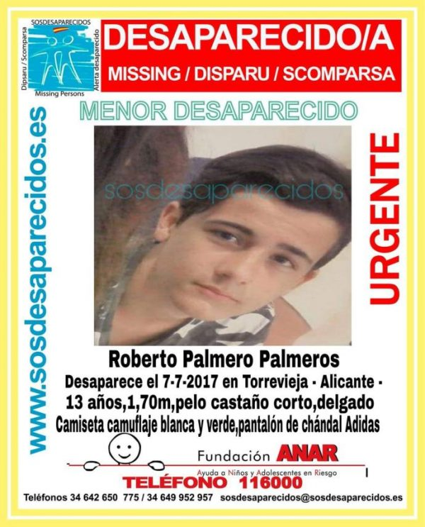 13-YEAR-OLD PAIR MISSING SINCE FRIDAY IN TORREVIEJA