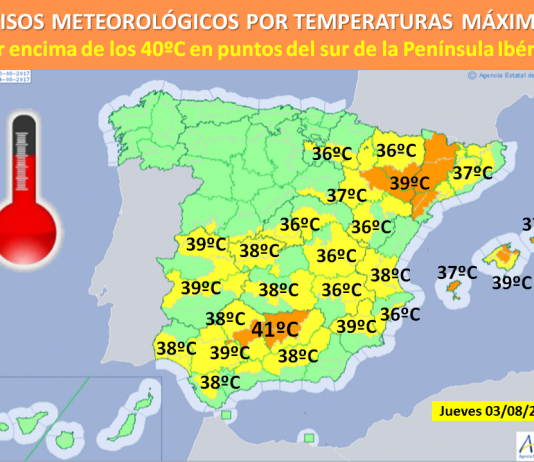 AEMET publish alert for high temperatures for the south of Alicante province