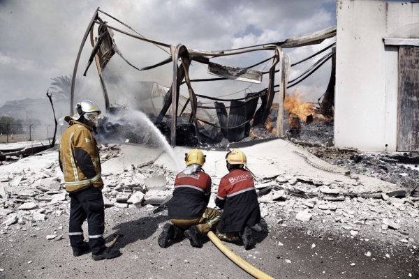 Orihuela Workshop destroyed by fire in just two hours