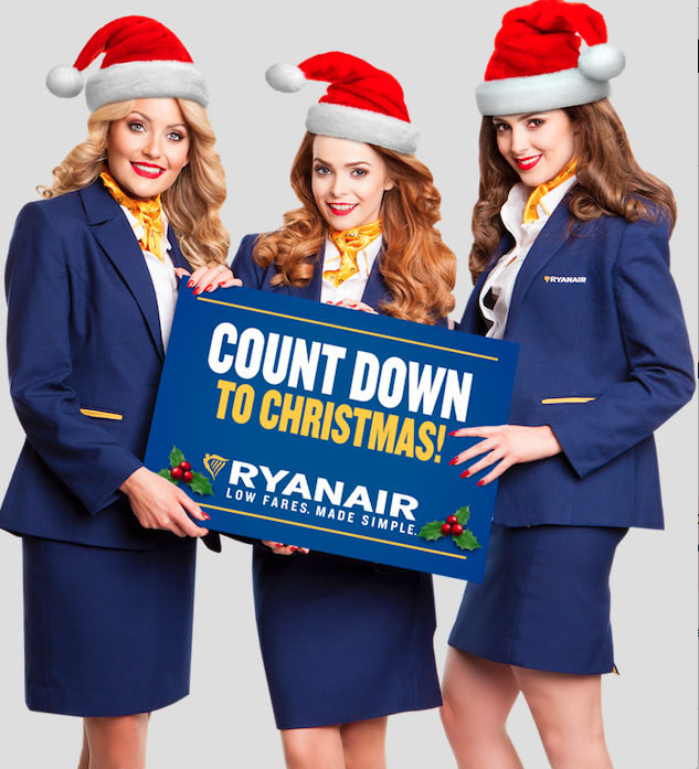 Ryanair launch 100-days-to-Christmas massive seat sale with 50000 seats for just €9.99 for October to December