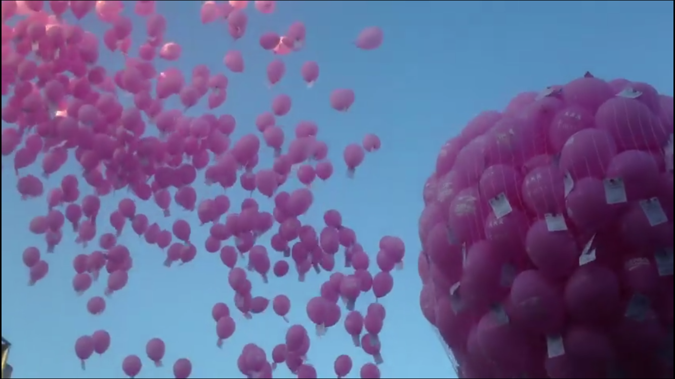 Maria and the Pink Ladies Balloon Release