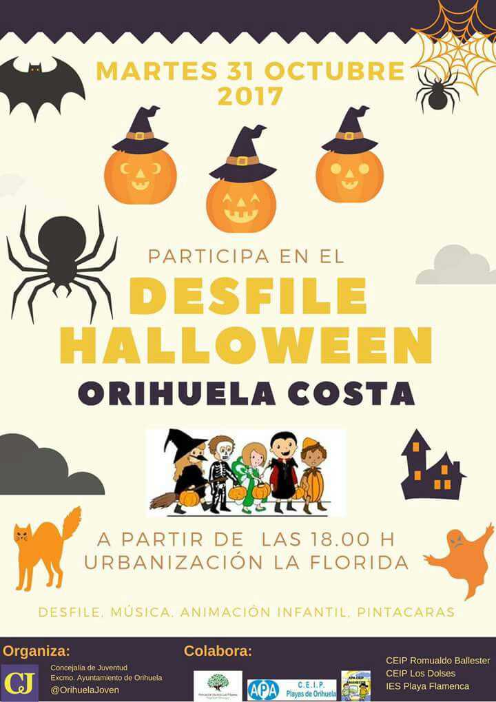 Halloween to be celebrated on the Orihuela Costa
