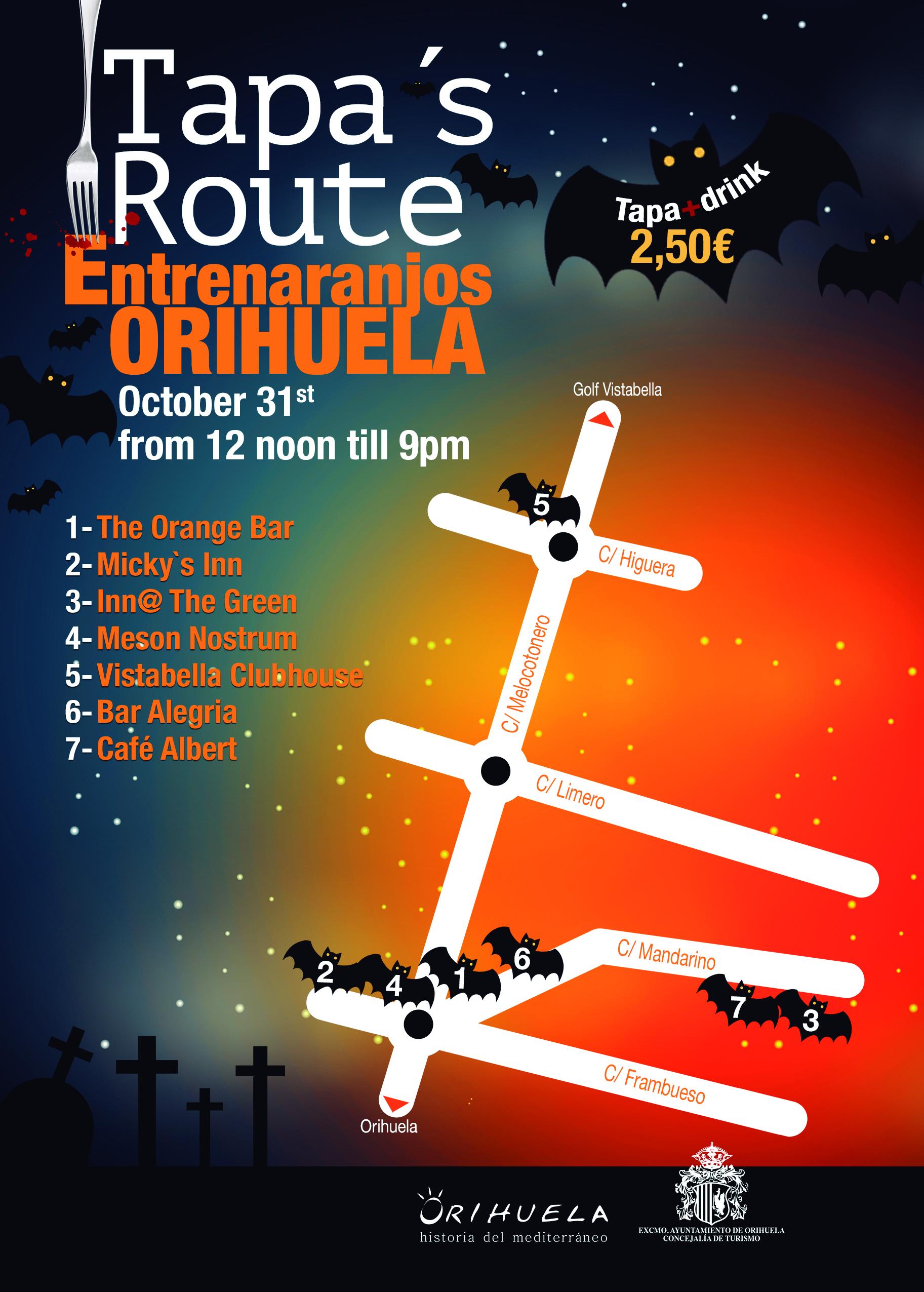 Halloween Tapas route at Entre Naranjos