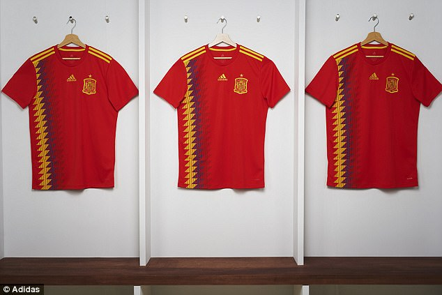 Controversy over Spain's new World Cup shirt