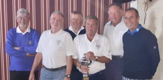 Bob Eno and the prize winners on the day.
