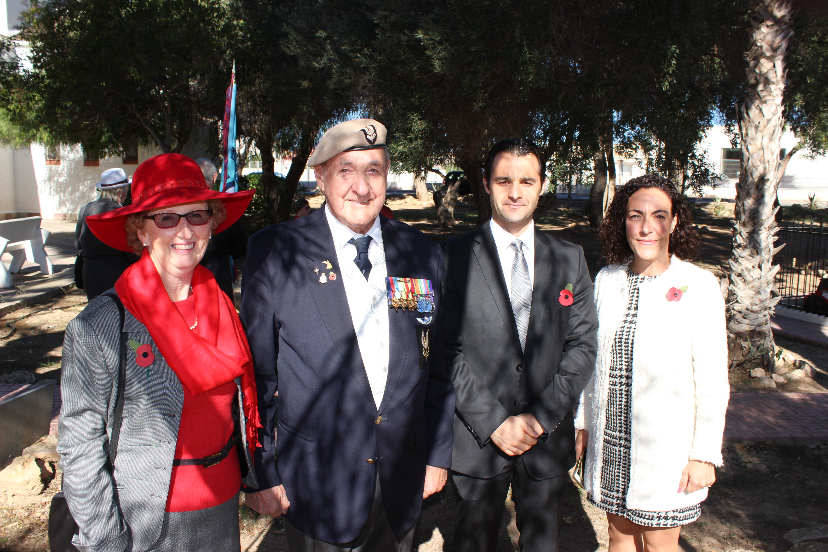 Torrevieja service with Rose and Joe Lyon, Eduardo Dolon and Rosario