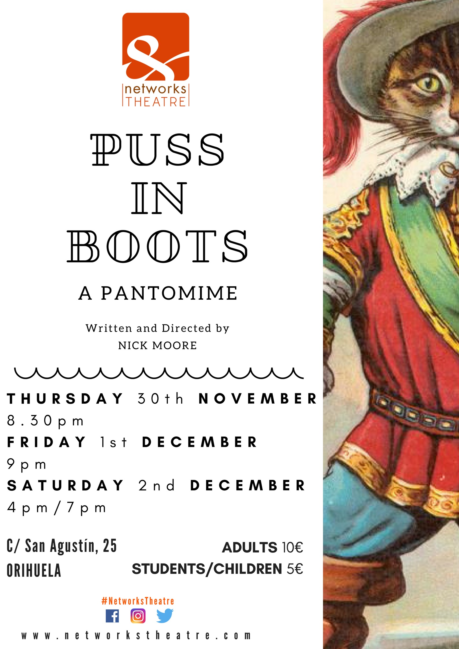 Network Theatre Group presents Puss in Boots