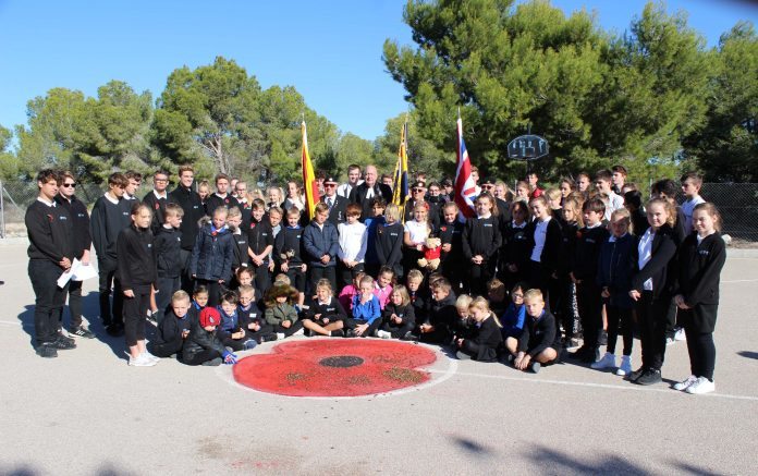 Children from the Phoenix International School in San Miguel held a remembrance service on Friday