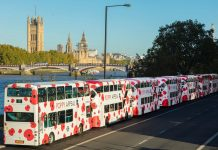 Poppy Buses London to commemorate Remembrance