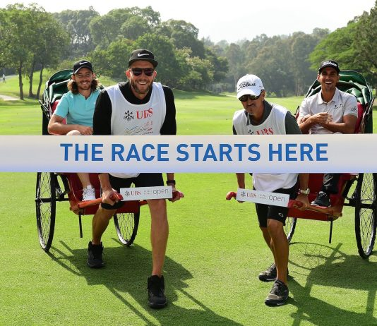 HONG KONG, 22 November : Tommy Fleetwood of England and Raffa Cabrera Bello of Spain pictured during the launching of The Road To Dubai ahead of UBS Hong Kong Open 2017 at the Hong Kong Golf Club, Hong Kong on 22 November 2017. Photo by Arep Kulal / Getty Images