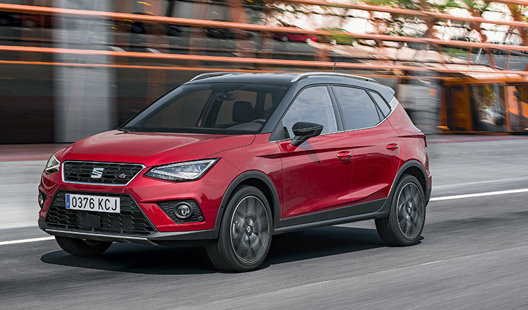 seat s new compact crossover arona achieves excellent results in euro ncap safety tests the. Black Bedroom Furniture Sets. Home Design Ideas