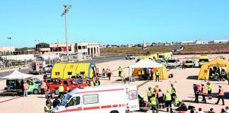 Disaster Simulation carried out at San Javier Airport