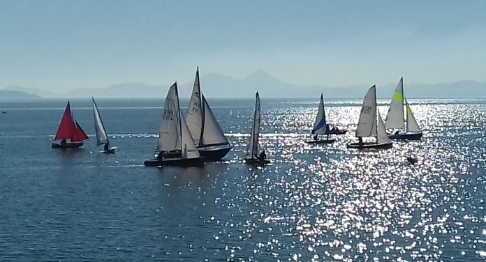 The start of the final regatta