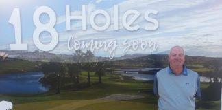 Division 1 winner: Steve Branston, in front of the poster at Vistabella Golf,