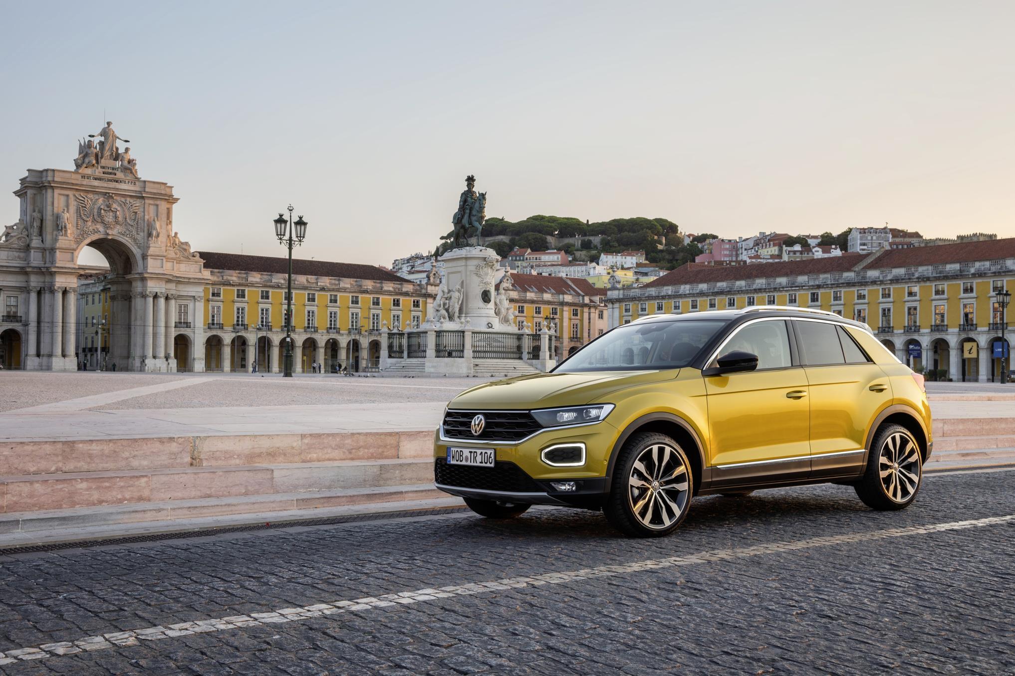 The Volkswagen T-Roc in Lisbon