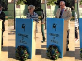 Humanists of Murcia Remembrance Day Event 2017