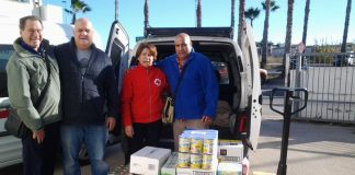 Caledonia Masons donate food to the Red Cross