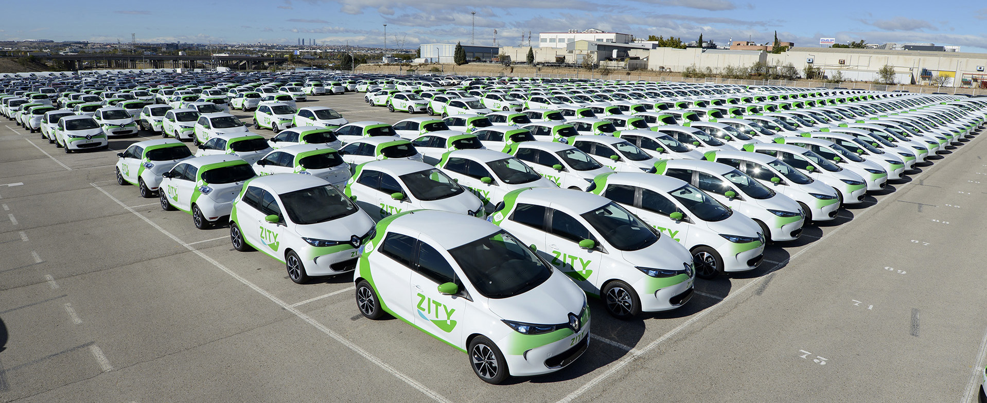 500 Renault Zoe on streets of Madrid with ZITY car sharing scheme ...