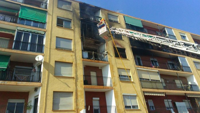 Apartment destroyed by fire in Dolores