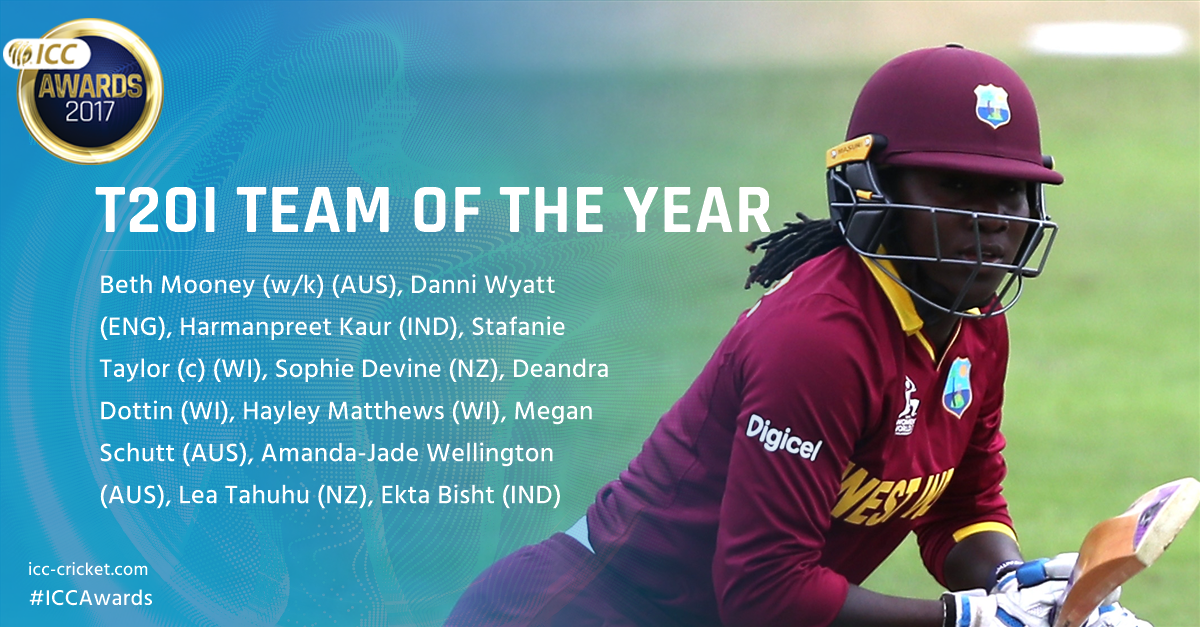 ICC Women's T20I Team of the Year