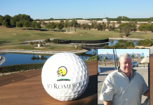 division 1 winner: Paul Newman (against the backdrop of the iconic 18th island green at Lo Romero).