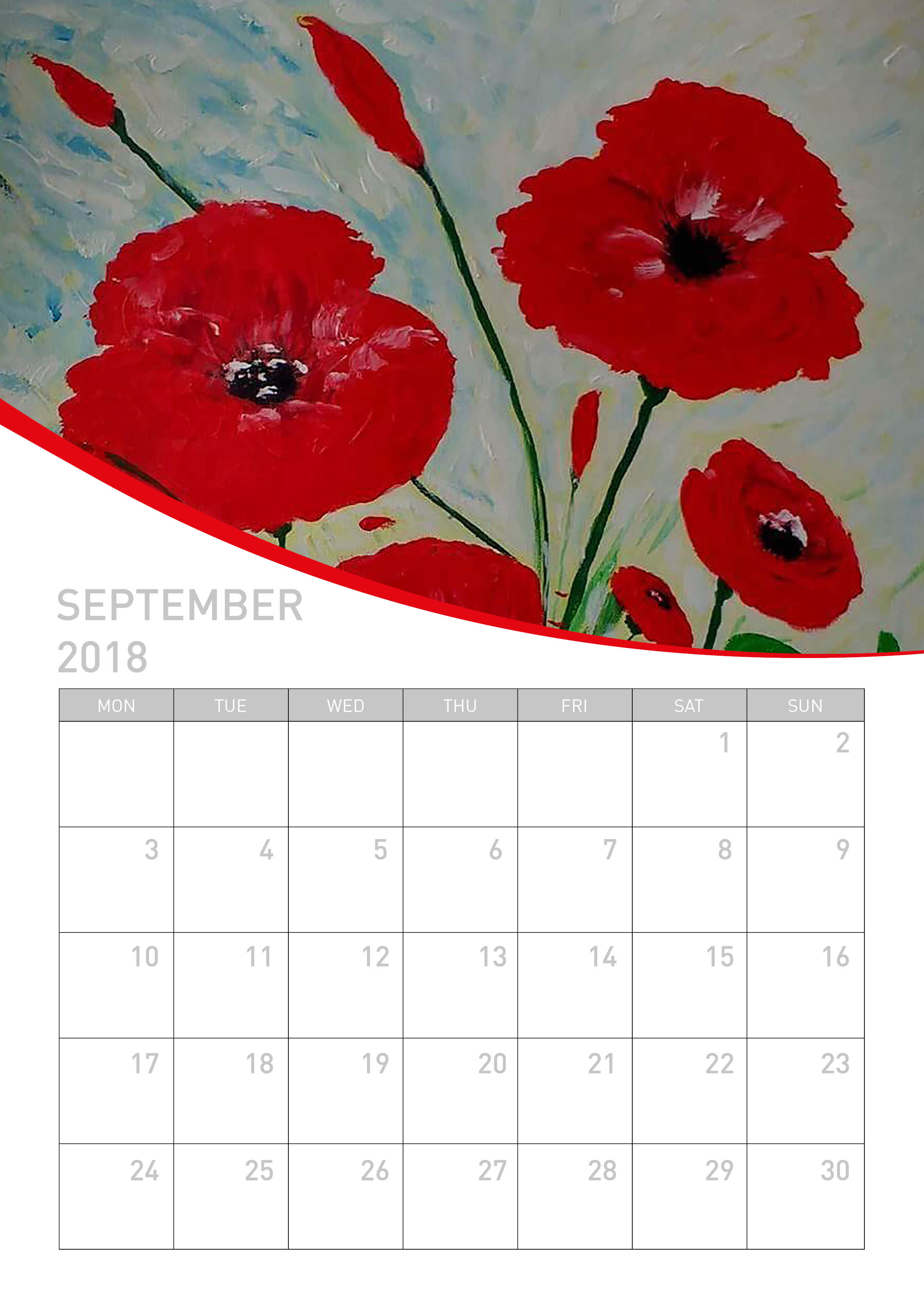 Poppy Calendar on sale for a good cause