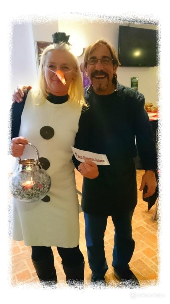 Stavros judged Sonya the Snowman winner of the best costume.