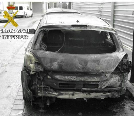 Seven children arrested for arson in Callosa de Segura