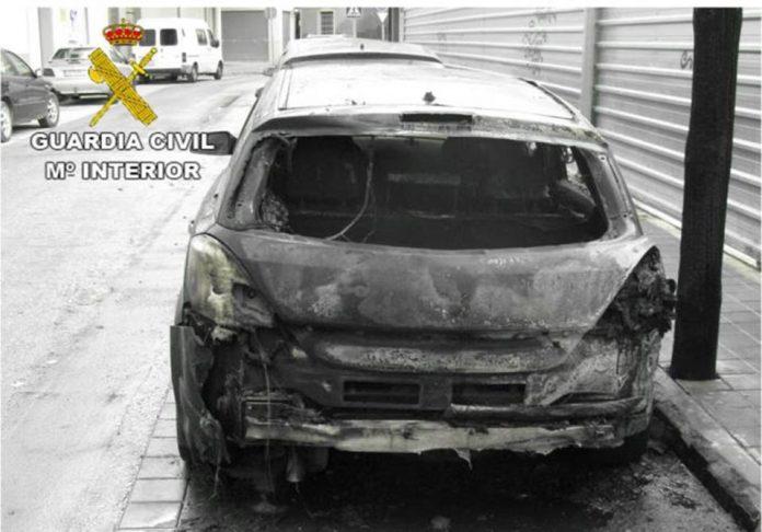 Seven children arrested for arson in Callosa de Segura