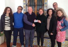 Local Masons present a further cheque to El Preventorio in Gandia