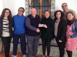 Local Masons present a further cheque to El Preventorio in Gandia