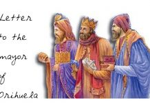 Letter from the Three Kings to the mayor of Orihuela