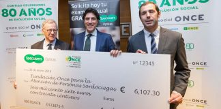 Specsavers Opticas raises over €6,000 for deaf-blind people