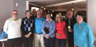 Eurogolf Monthly Medal off the plates, winners