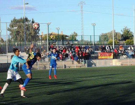 CD Montesinos goalie Dani in action.