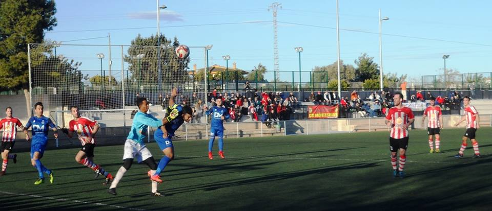 CD Montesinos goalie Dani in action.