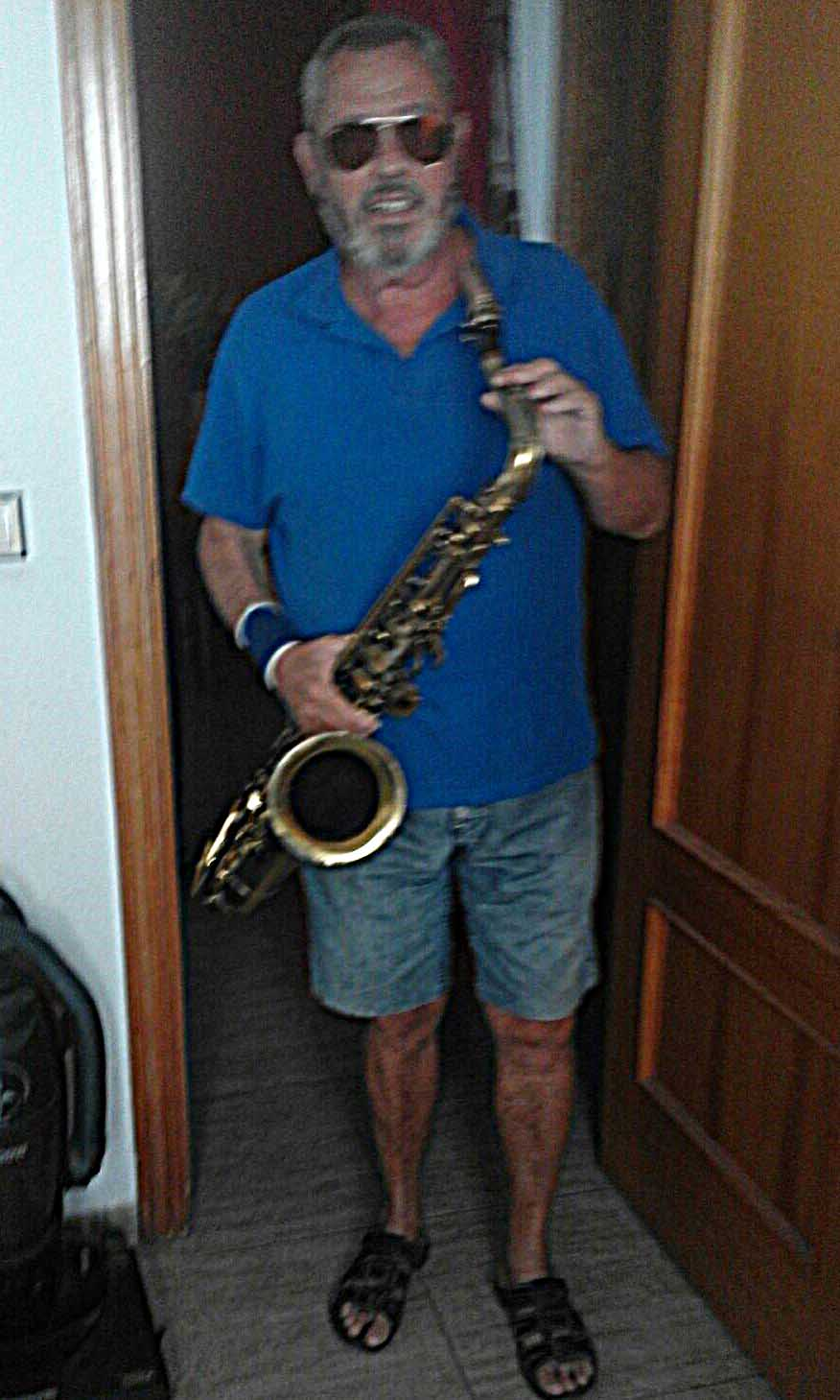 Eddie with his saxaphone