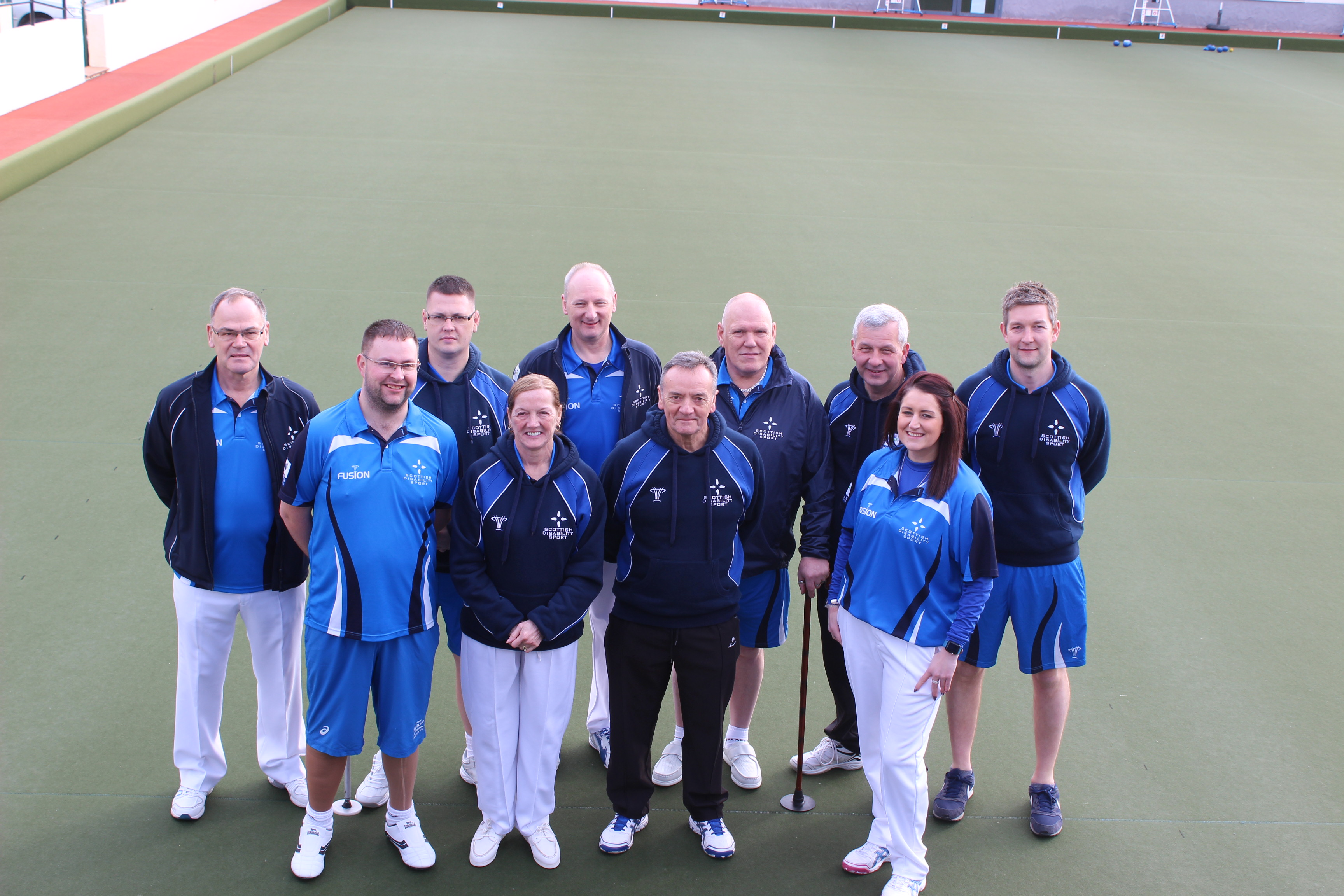 The Scotland Para Bowls Squad in Quesada